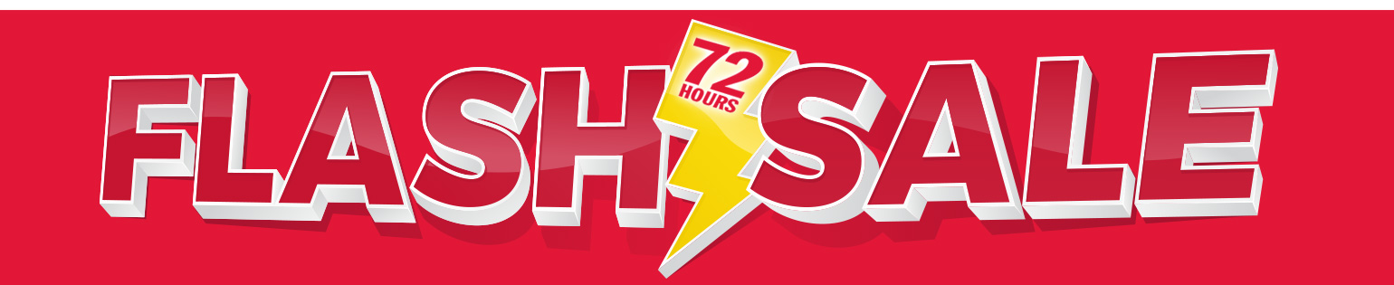 72 Hour Weekend Flash Sale: Stock up now on At-Home ESSENTIALS!